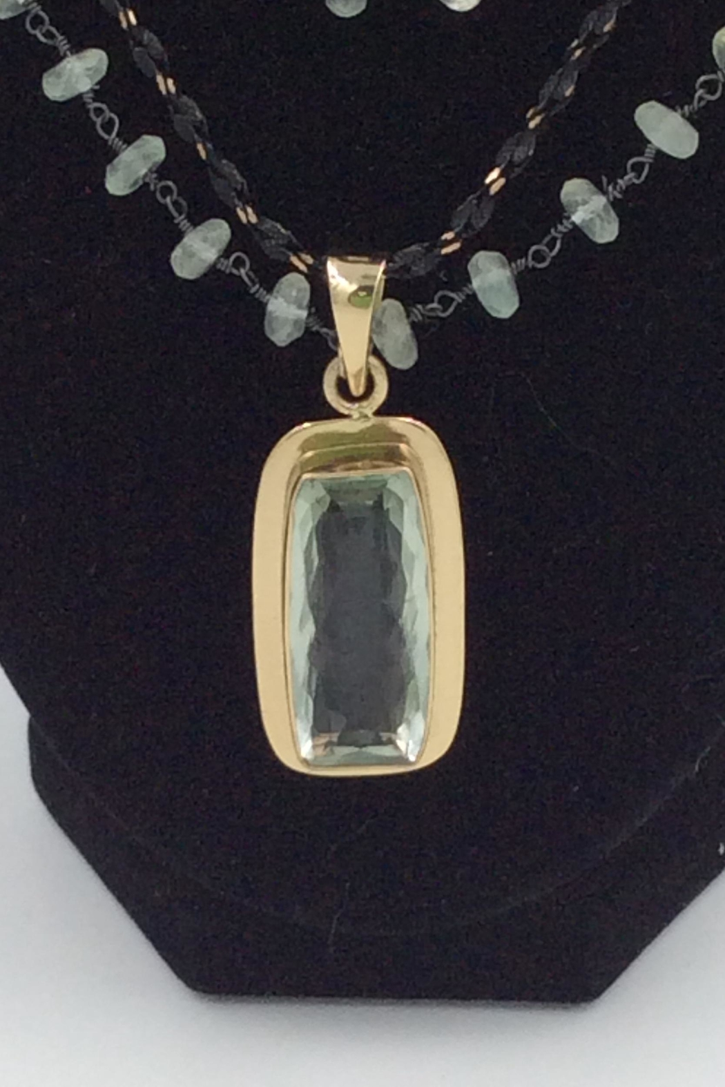 LJ Jewelry Designs Green Amethyst Necklace - Front Full Image