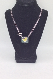 LJ Jewelry Designs Heart Amethyst Necklace - Product Mini Image