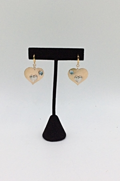 LJ Jewelry Designs Heart/blue Topaz Earrings - Product List Image