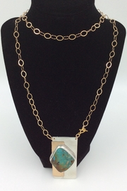 LJ Jewelry Designs Long Turquoise Necklace - Product Mini Image