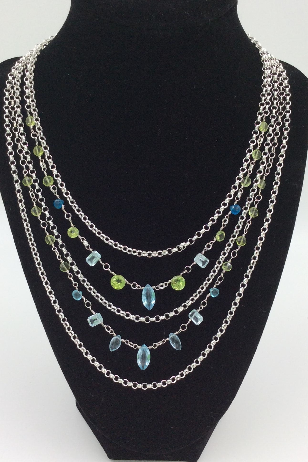 LJ Jewelry Designs Multilayer Gemstone Necklace - Main Image