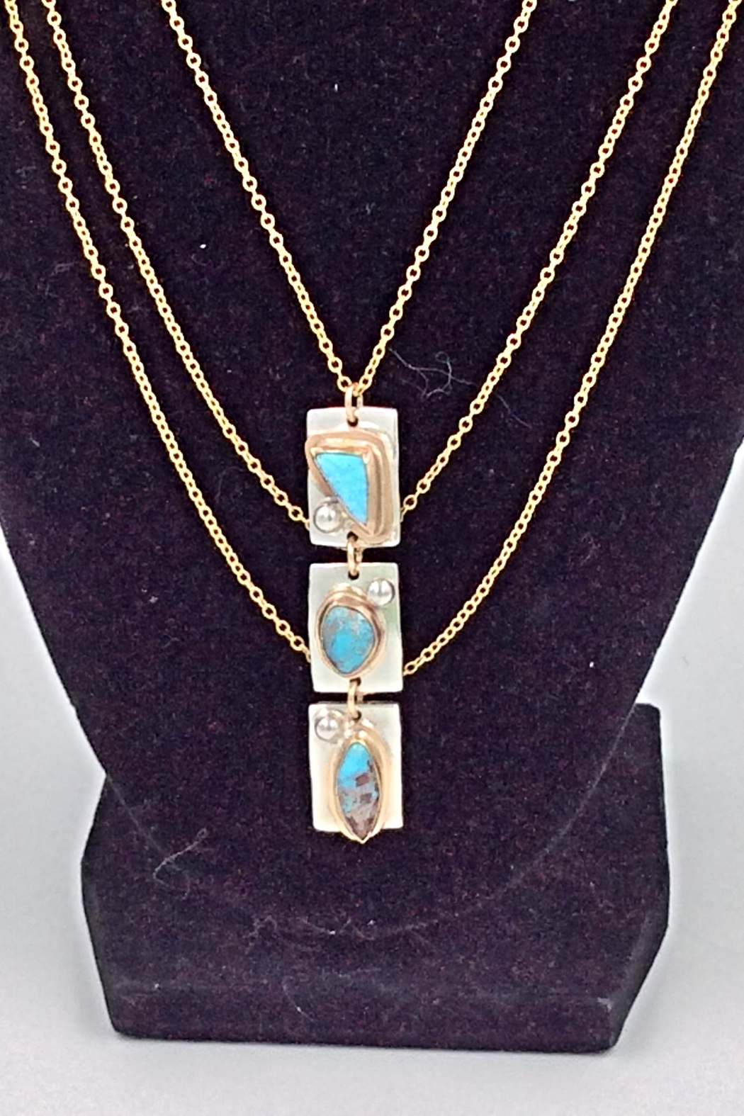 LJ Jewelry Designs Triple Turquoise Necklace - Main Image