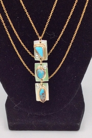 LJ Jewelry Designs Triple Turquoise Necklace - Front full body