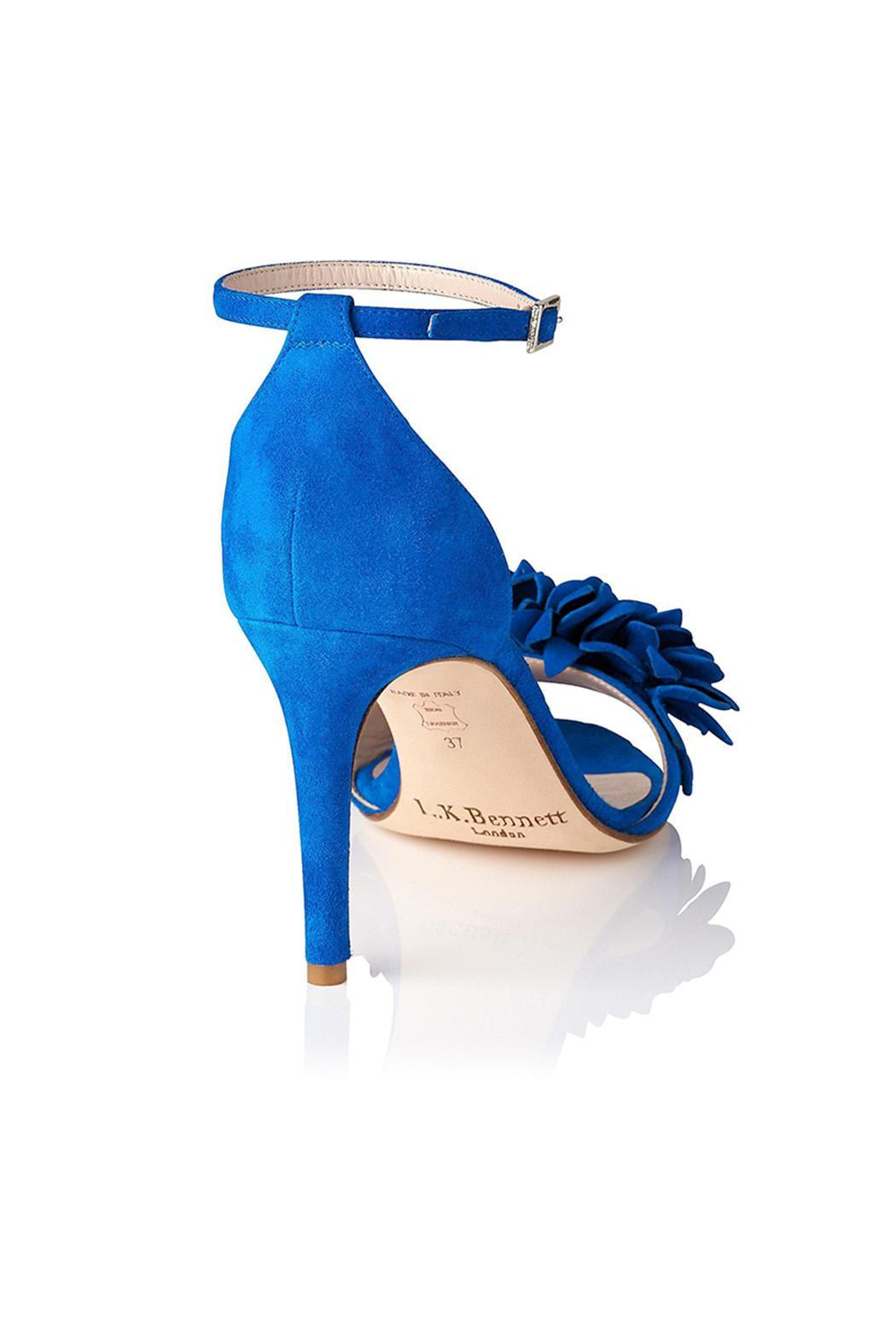 LK BENNETT Claudie Blue Heel - Side Cropped Image