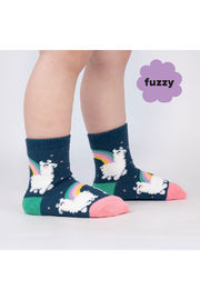 Sock it to me Llam-where Over The Rainbow Crew Socks - Toddler - Product Mini Image