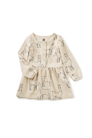 Tea Collection Llama Love Button Front Baby Dress - Product Mini Image