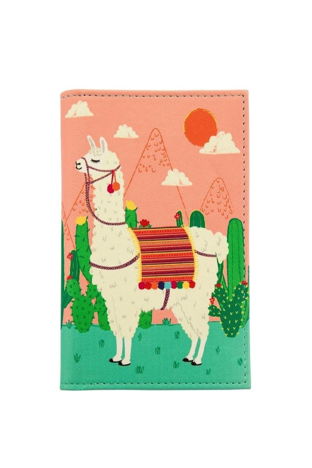Sass & Belle Llama Passport Cover - Front Cropped Image