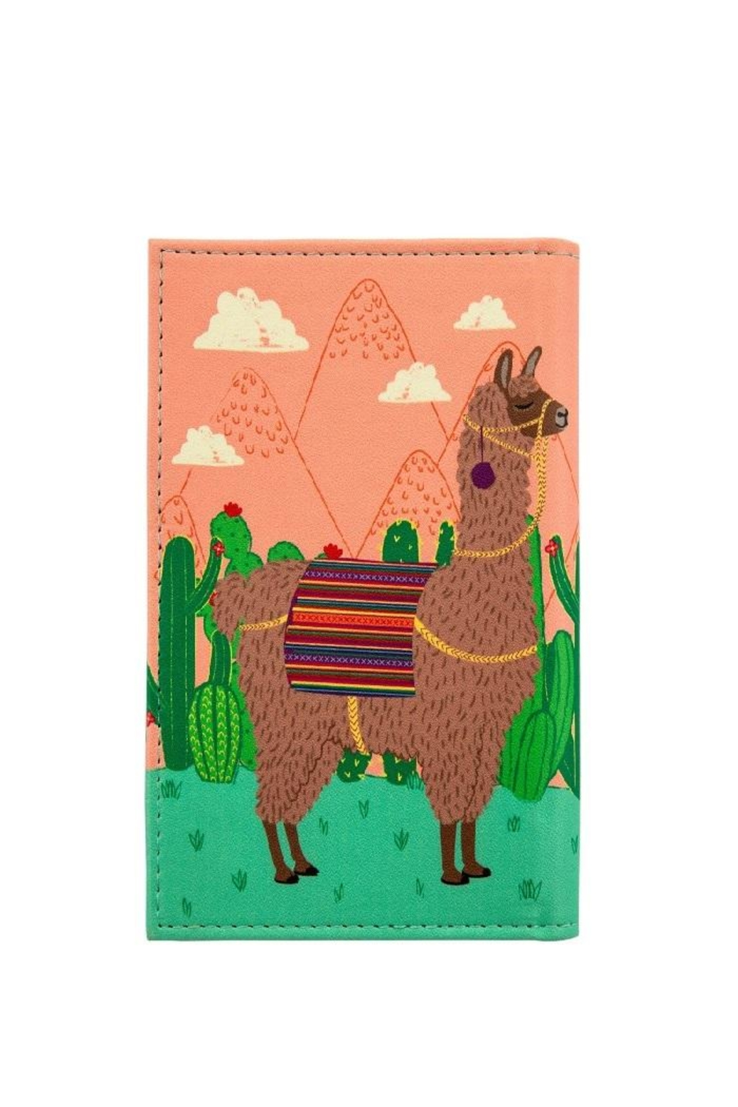 Sass & Belle Llama Passport Cover - Front Full Image
