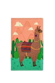 Sass & Belle Llama Passport Cover - Front full body
