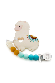 loulou LOLLIPOP Llama Silicone Baby Teether Holder Set - Product Mini Image