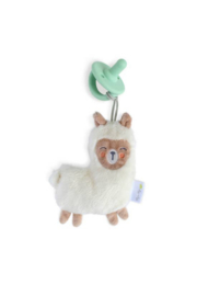 Itzy Ritzy Llama Sweetie Pal™ Flat Lovey + Mint Cable Pacifier - Product Mini Image
