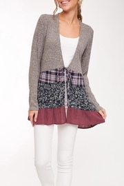 LLove Contrast Cardigan - Product Mini Image