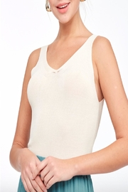 LLove V-Neck Sweater Top - Front full body