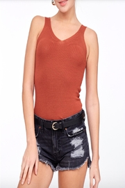 LLove V-Neck Sweater Top - Front cropped