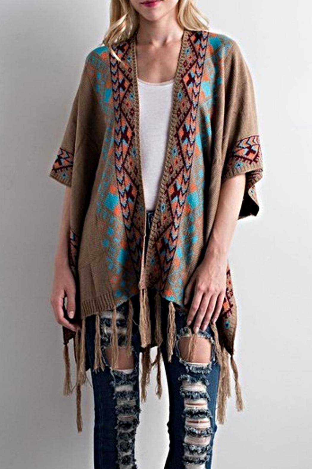 LLove USA Aztec Kimono Sweater from Ohio by Artifacts Gallery ...