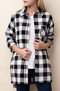 LLove USA Checkered Button Down - Product List Image