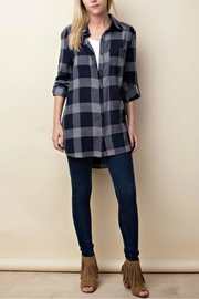 LLove USA Checkered Navy Top - Other