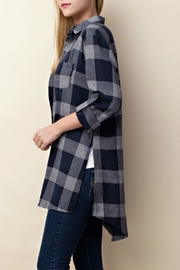 LLove USA Checkered Navy Top - Side cropped