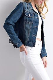 LLove USA Cropped Denim Jacket - Front full body