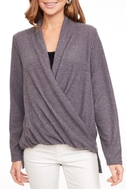 LLove USA Crossed Ribbed Top - Front cropped