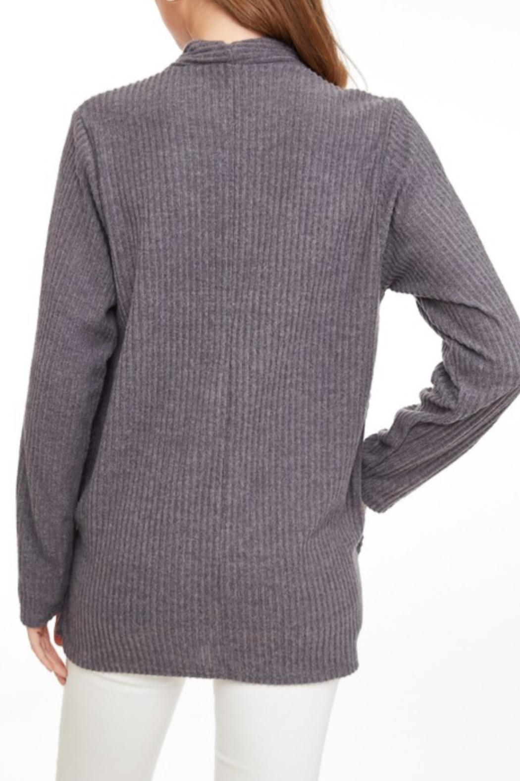 LLove USA Crossed Ribbed Top - Side Cropped Image