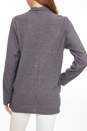 LLove USA Crossed Ribbed Top - Side cropped