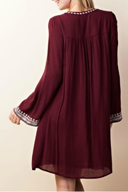LLove USA Embroidered Burgundy Dress - Other