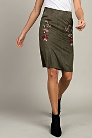 LLove USA Embroidered Suede Skirt - Product Mini Image