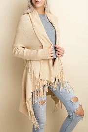 LLove USA Fringe Cardigan - Front full body