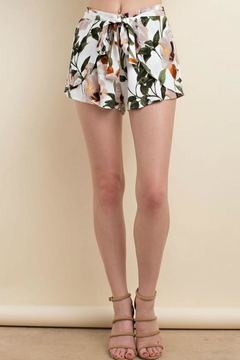 LLove USA Front Tie Floral Short - Product List Image