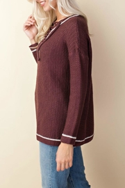 LLove USA Knit Lace-Up Sweater - Side cropped