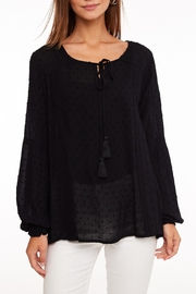 LLove USA Lace Trim Top - Front full body
