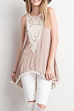 LLove USA Lace Vee Tunic - Product List Image