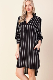LLove USA Lacy Stripe Dress - Product Mini Image