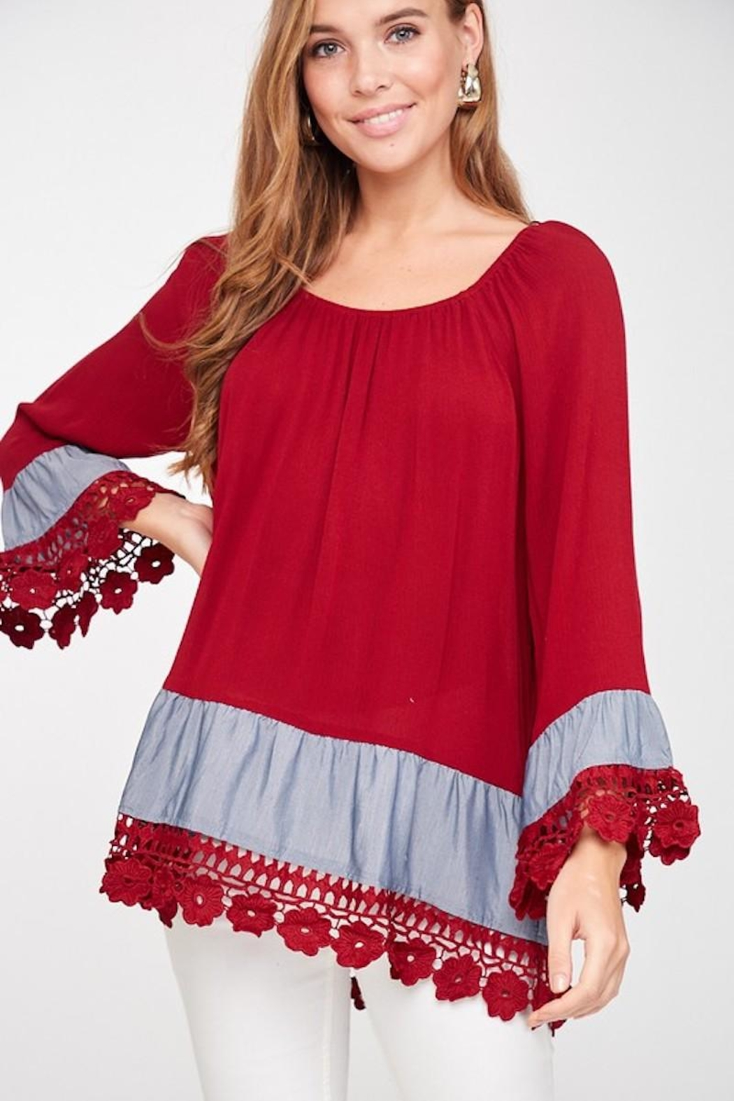 LLove USA Lady In Red Blouse - Main Image
