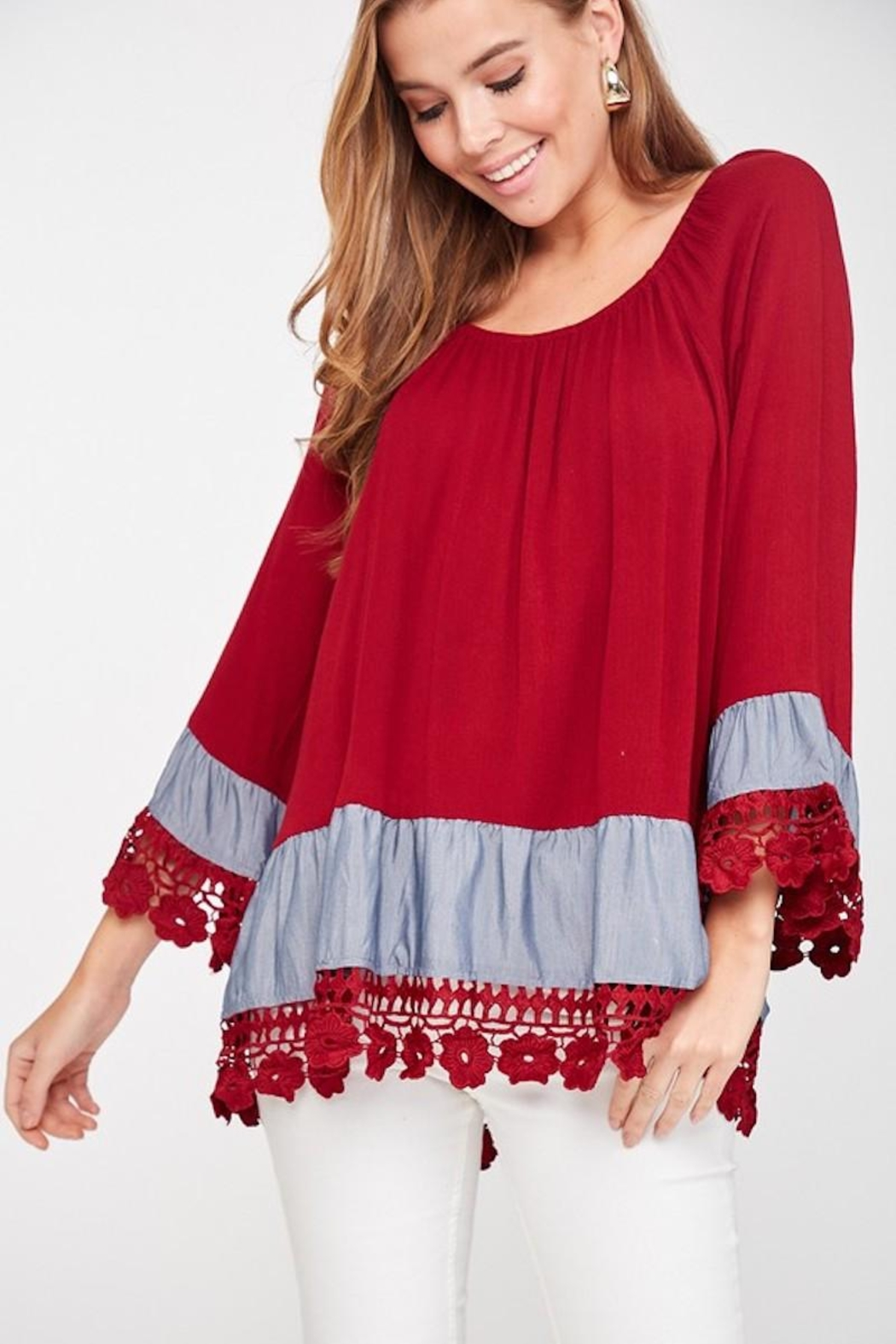 LLove USA Lady In Red Blouse - Front Full Image