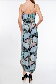 LLove USA Leaf Print Jumpsuit - Front full body