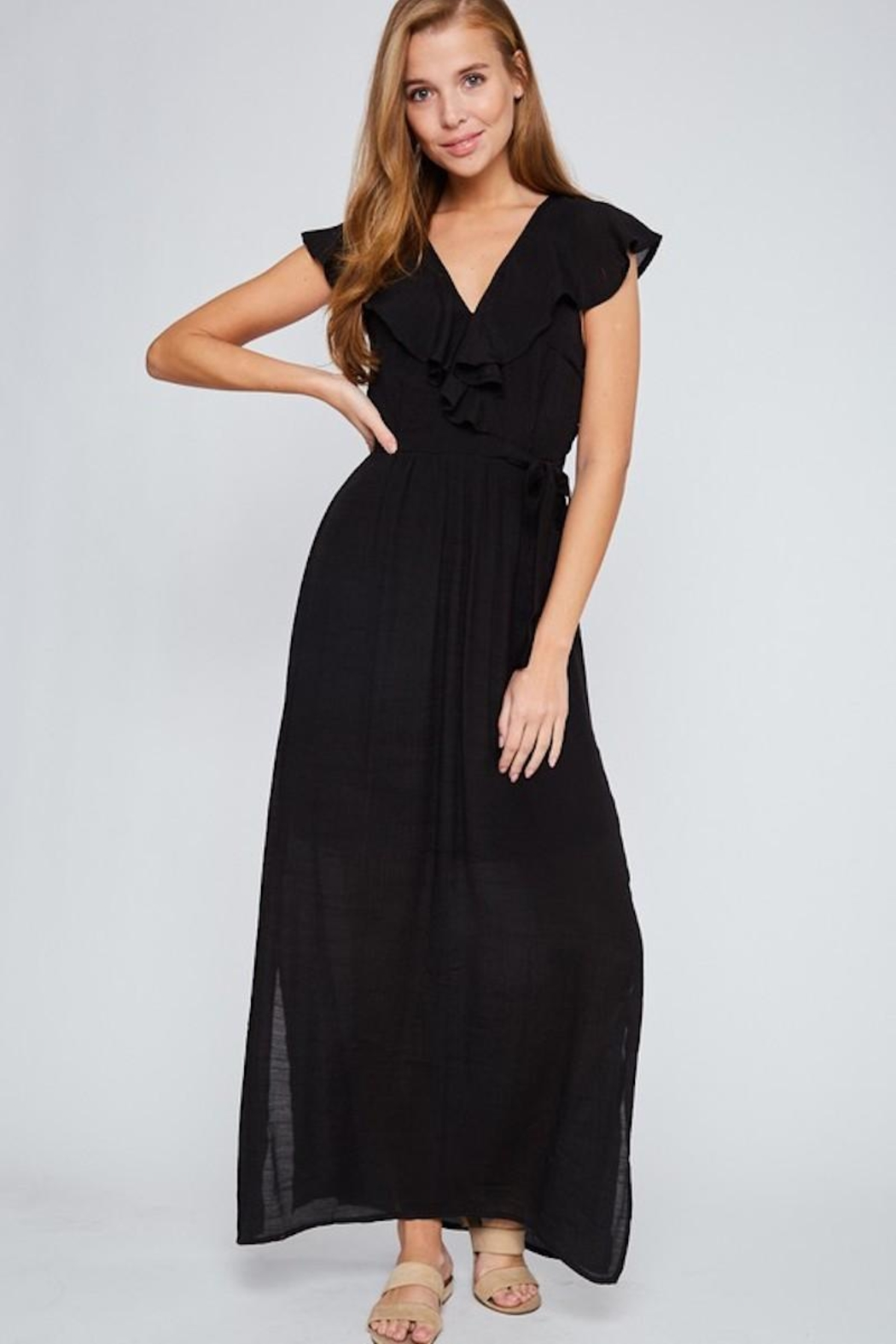 LLove USA Let's Go Black Maxi - Front Full Image