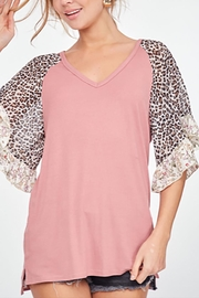 LLove USA Mauve Leopard Sleeve - Product Mini Image