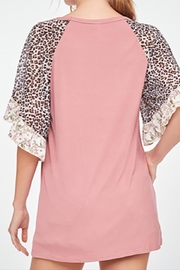 LLove USA Mauve Leopard Sleeve - Front full body