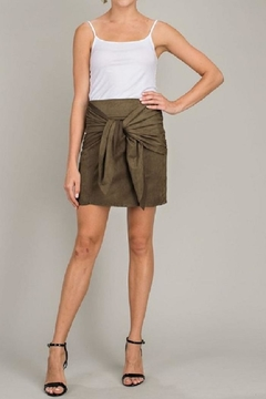 LLove USA Olive Front-Tie Skirt - Product List Image