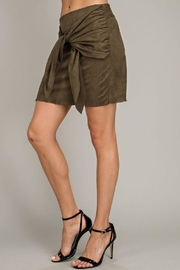 LLove USA Olive Front-Tie Skirt - Back cropped
