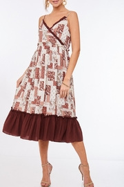 LLove USA Patchwork Printed Dress - Product Mini Image