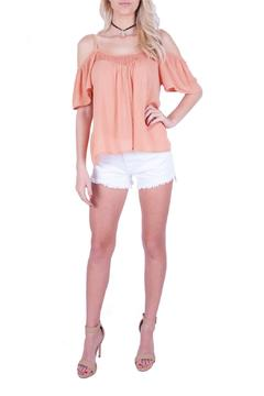 LLove USA Peach Cold Shoulder Top - Product List Image