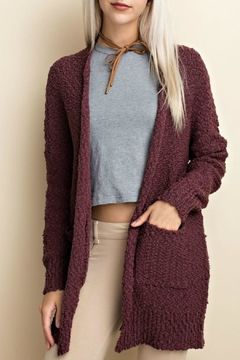 Shoptiques Product: Plum Popcorn Cardigan