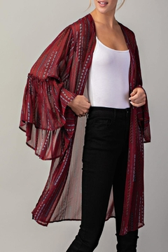 LLove USA Ruffled Open Kimono - Product List Image