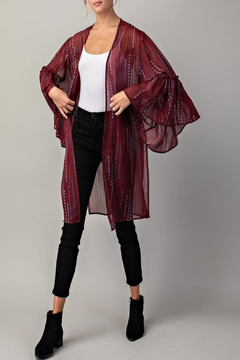 LLove USA Ruffled Open Kimono - Alternate List Image
