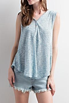 LLove USA Striped Hoodie Tank - Product List Image
