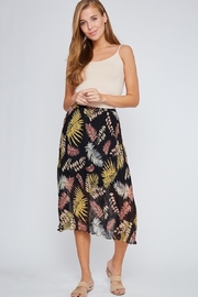 LLove USA Tropical Leaf Skirt - Front cropped