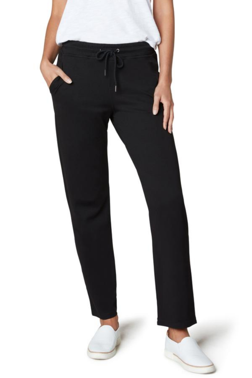 Liverpool  LM5606KN8 - Knit Jogger w Contrast - Front Cropped Image